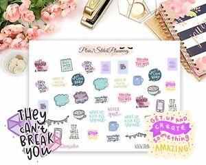 Motivational Sampler Planner Stickers   Scrapbooking   Bujo