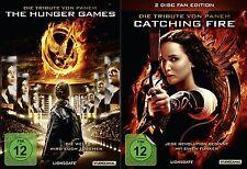 Die Tribute von Panem - Teil 1 + 2 - The Hunger Games + Catching Fire - 3 DVD