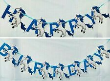 Party : Unicorn Happy Birthday Letter Banner Party Decor