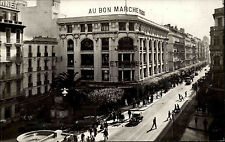 Alger argel argelia al-Djazayer 'ir ~ 1930 Fontaine et la rue d' Isly real foto-ak