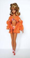 Mattel Barbie Fashion Model Series DOLL Silkstone  Palm Beach Swimsuit 2010