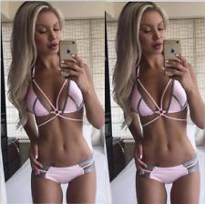 2018 Women Bandage Bikini Swimwear Swimsuit Beach Bathing Suit Triangle Tankini
