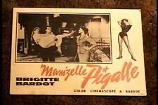 MAM'ZELLE PIGALLE LOBBY CARD #2 BRIGITTE BARDOT