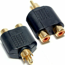 3x 1 RCA macho a hembra y Splitter Adaptador de fono 2x-conmutador de audio/vídeo T dividida