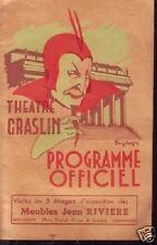 NANTES  PROGRAMME OFFICIEL THEATRE GRASLIN 1951-52