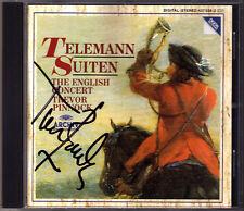 Trevor PINNOCK Signed TELEMANN 3 Overture Suite TWV 55 Archiv CD English Concert
