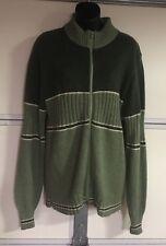 "Vintage Zip Up Sweater Jacket Rockabilly Large NOS Deadstock ""Hands Off"""