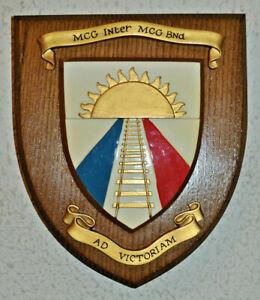 Belgian Groep Controle der Bewegingen Binnenland regimental mess wall plaque