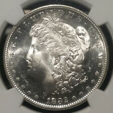 1882 S MORGAN SILVER DOLLAR NGC MS64+ $1 1882S UNITED STATES GEORGE MS 64 PLUS