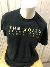 Vintage Gildan Justin Timberlake The 20/20 Experience 2013 Tour Xl Black Shirt