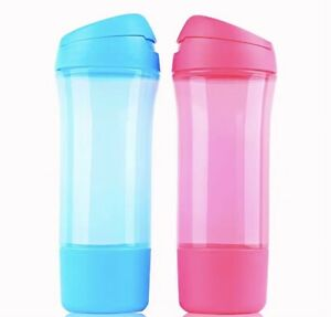 Tupperware Sport Water Bottles Quick Quench Eco Bottle 400ml Set Free Postage