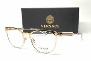 VERSACE VE1268 1252 Pale Gold Demo Lens Women's Sunglasses 53 mm