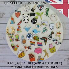 UK Enamel Pins Fashion Cartoon Pin Fun Badge Brooch Metal Mixed Set Enamel DIY
