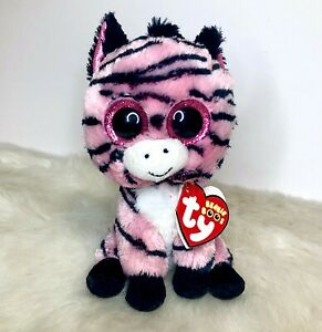 "Ty Beanie Boo 6"" Zoey the Pink Zebra Retired HTF"