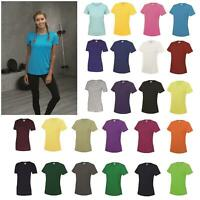 AWDis Just Cool Girlie Cool T-Shirt Women Polyester gym/sports/running tee |8-18