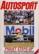 Autosport 30 Jul 1987 - German GP, Brands Hatch 1000 Kms Jaguar, Ferrari F40