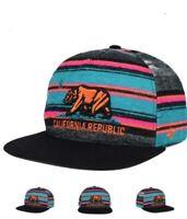 '47 Brand California Republic Chapparal Stripe Snapback Adjustable Hat Cap AG