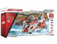MECCANO AERIAL RESCUE Helicopter Plane 20 Models Construction Set Playset 16211