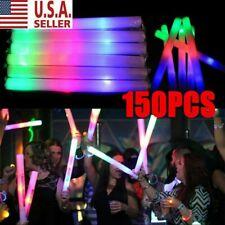 30~150 Light Up Foam Sticks Led Wands Rally Rave Batons Dj Flashing Glow Stick