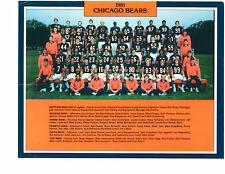 1981 CHICAGO BEARS 8X10 TEAM PHOTO PAYTON PAGE SINGLETARY ILLINOIS  FOOTBALL