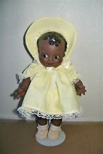 "Vintage Black African American 11"" Jesco Doll Kewpie W/ Dress Shoes Stand L@K"