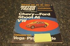 MOTOR TREND CHEVY AND FORD SHOOT AT VW JANUARY 1971 VOL.23 #1 9248-1 [LOC.ELK]