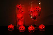 Set of 12 Litecubes Brand Light up LED Ice Cubes Pumpkin Jack O Lanterns