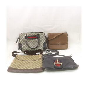 Gucci Leather PVC Canvas Shoulder/Hand Bag 4 pieces set Junk 526152