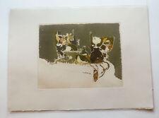 Mayer Leslie (Roma 1927) - Litografia -Composizione (1984) -Edizioni Grafica Uno
