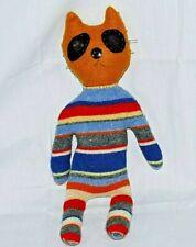 "17"" Primitive Handmade Ugly Rag Cat Plush Figure Doll OOAK"