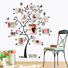 Large Photo Frame Family Tree Removable 3D Wall Stickers Art Decal Home AU