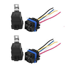 2PCS Waterproof Auto 12V DC 40A 5PIN Relay & Socket For Car Alarm Truck Release