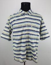 Men's Columbia Short Sleeve Striped Button Up Shirt FULL PRINT - Size Medium M
