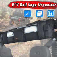 UTV Large Roll Cage Organizer Cargo QuadGear Storage Rack Pouch Bag Accessories