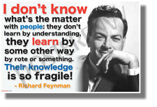 I Don't Know What's the Matter with People - Richard Feynman - NEW POSTER
