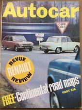 Autocar Magazine - 11 April 1968 - Renault 4 & 16, Master Hunter, Touring Maps