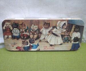 CATS ACADEMY Louis Wain collectible tin Kittens trinket holder Ms. Tabitha 1895