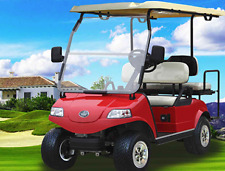 New 2017 Red Evolution EV Golf Cart Car Classic 4 Passenger seat 48v WARRANTY