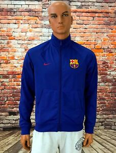 NIKE BARCELONA 2017-2018 CORE TRAINER JACKET BLUE SIZE M