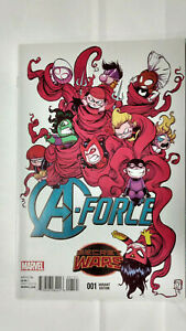 A-FORCE #1  1st Printing - Young Variant - Singularity      / 2015 Marvel Comics