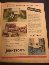 Johnston's Furniture Melbourne Original 1940s Australiana Vintage Print Ad