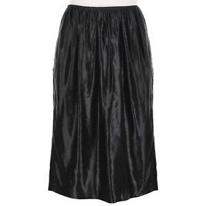 Dries Van Noten Black Wet Look Satin Pencil Skirt FR40 UK12