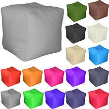 Square Cube BEAN BAG with FILLING KIDS POUFFE FOOT STOOL BEANBAG EXTRA SEAT