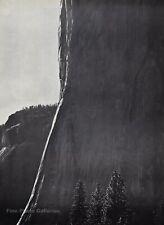 1950s Vintage ANSEL ADAMS El Capitan Cliff Yosemite Landscape Photo Art 12X16