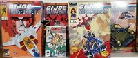 HASBRO SDCC GI JOE TRANSFORMERS 4 SETS SEALED PLUS CROSSOVER COMICS 1-4 NEW