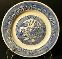 "Homer Laughlin Blue Willow Salad Plate 7 1/4"" Pie Dessert Excellent"