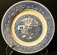 """Homer Laughlin Blue Willow Salad Plate 7 1/4"""" Pie Dessert Excellent"""