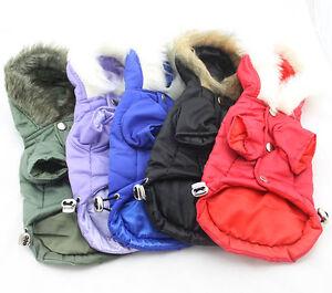 Chihuahua Yorkie Tiny Teacup Warm Winter Parka Dog Coat Jumper Raincoat Hoody UK