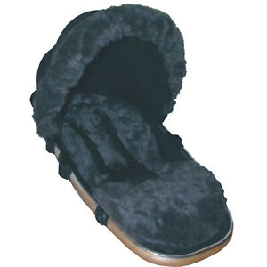 Grey Faux Fur Seat Liner (liner only) - Select your model of pushchair