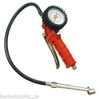 NEW! SEALEY Tyre Inflator with Twin Push On Connection